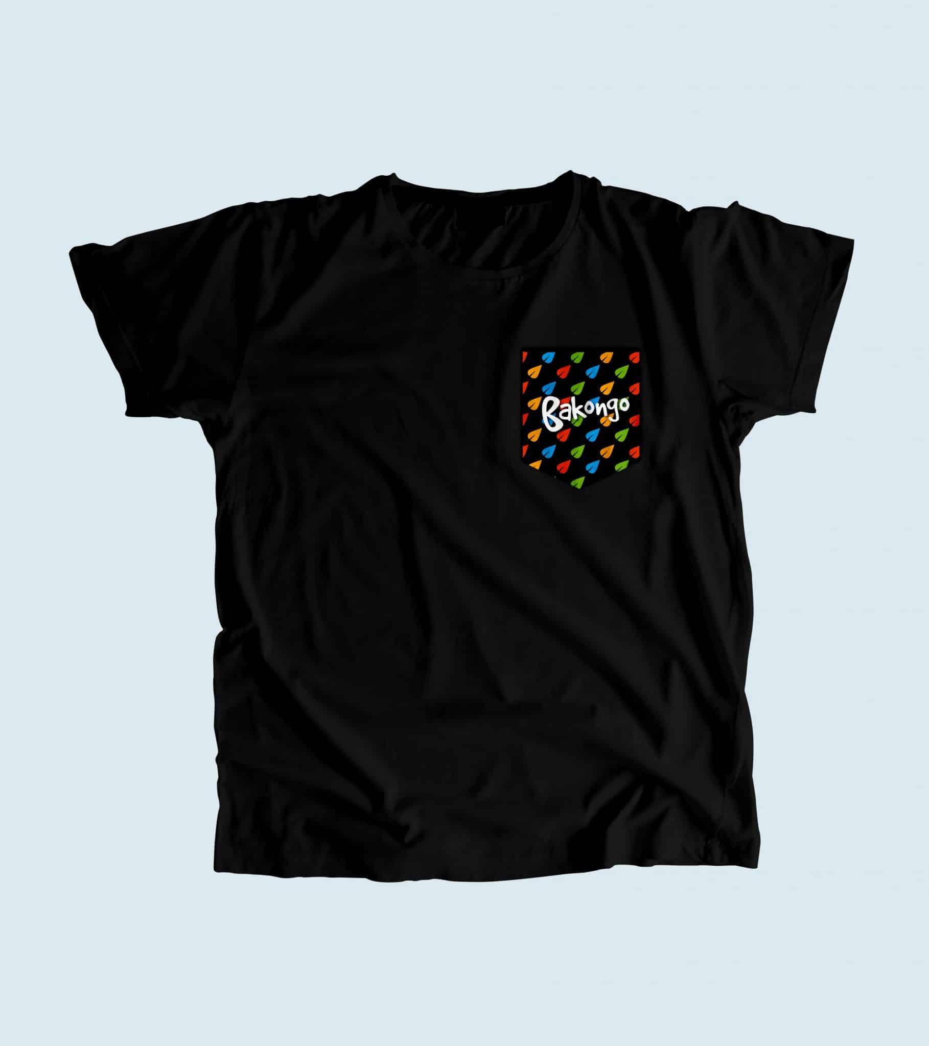 Camiseta con bolsillo bakongo