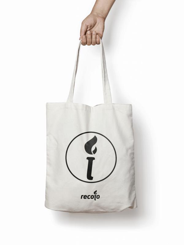 tote bag estampado con el logo de recojo